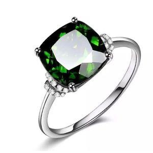 Stunning Cushion Cut Emerald Ring